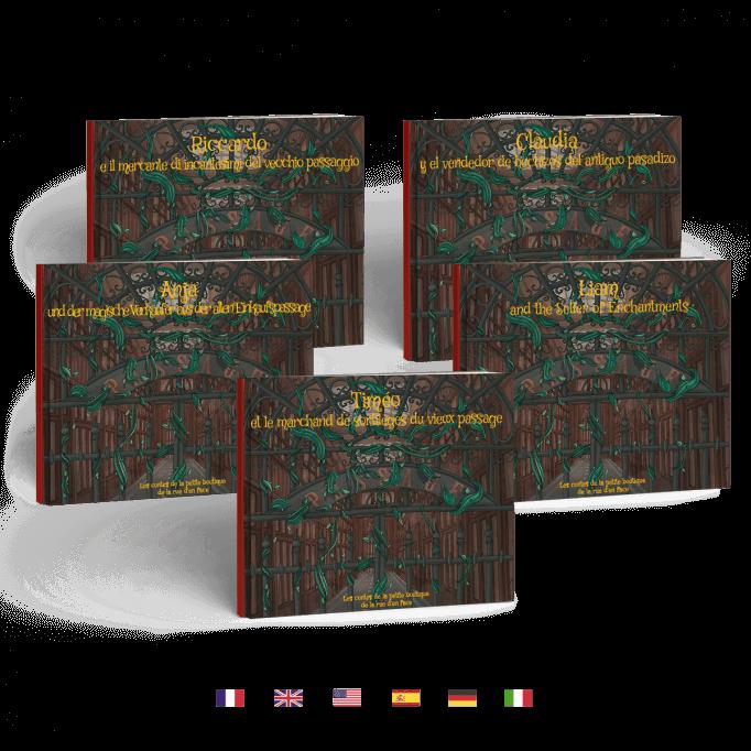 Le marchand de sortilèges du vieux passage en 5 langues